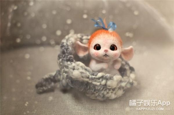 嘿,这里有超萌的羊毛毡娃娃出没