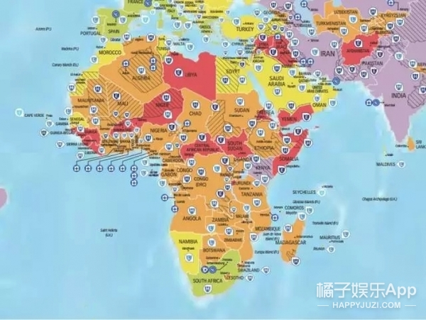 2017全球旅游风险地图出炉,你喜欢的国家都上榜了!