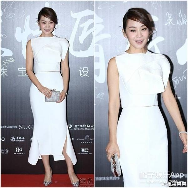 闫妮、张俪、张天爱参加同场时尚活动,女明星们的造型非黑即白~
