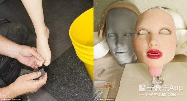 摄影师拍下工厂里的充气娃娃