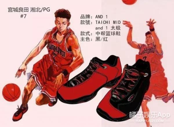 《灌篮高手》中的主角们穿的都是什么球鞋?