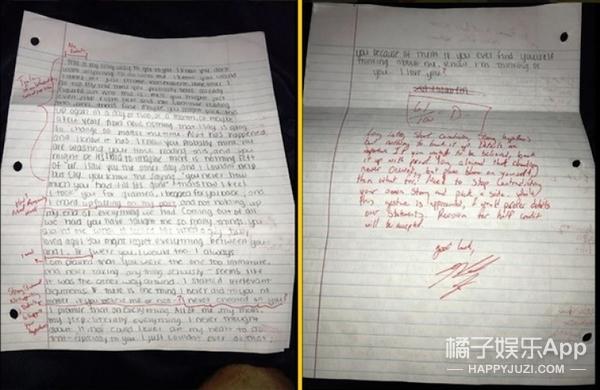 【Holy Shit】女友写来道歉信!男子用红笔批注打分!