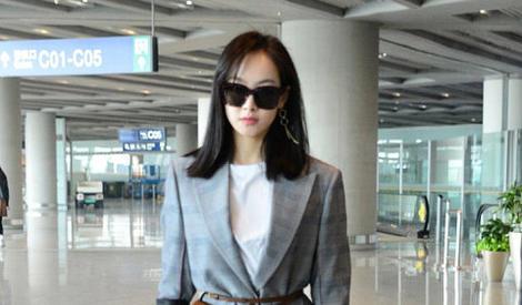 宋茜帅气西装现身机场 变霸道女总攻