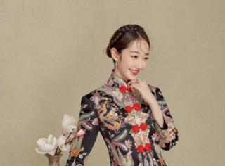 蒋梦婕化身新娘,中西两款你更喜欢哪一款?