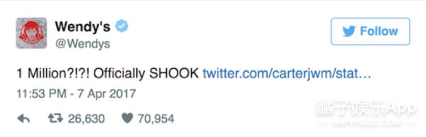 因为想吃鸡块,他发出了条转载量最高的推特
