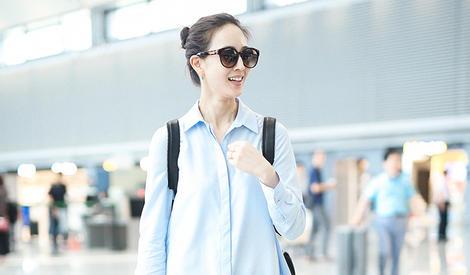 阳光美女张钧甯,机场照都像广告片