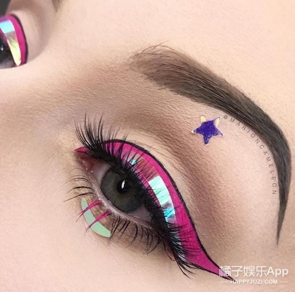 在眼皮上涂鸦!眼妆界新宠之疯狂的线条