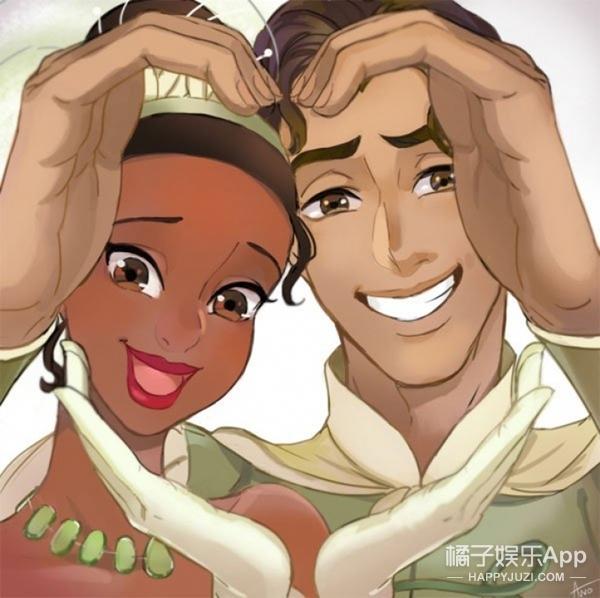 小两口可以学的迪士尼情侣比心手势