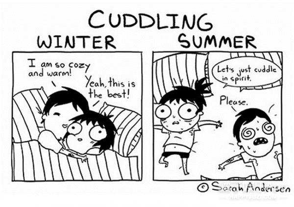 搞笑漫画家笔下的夏天烦恼,你中招了没?