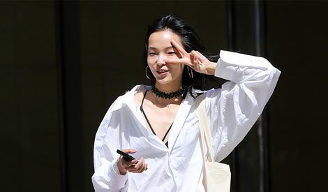 雎晓雯:就算比剪刀手我也要有超模style