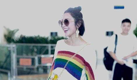 小甜饼唐艺昕今天是彩虹馅的~