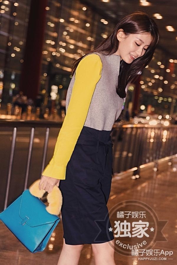 乔欣深夜帅气亮相机场,携手橘子开启米兰时尚之旅!!