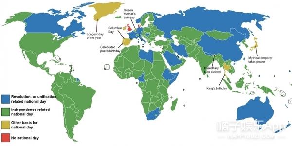 国庆比赛推青蛙、爬杆子都不算啥,还有两个国家连国庆节都没有呢