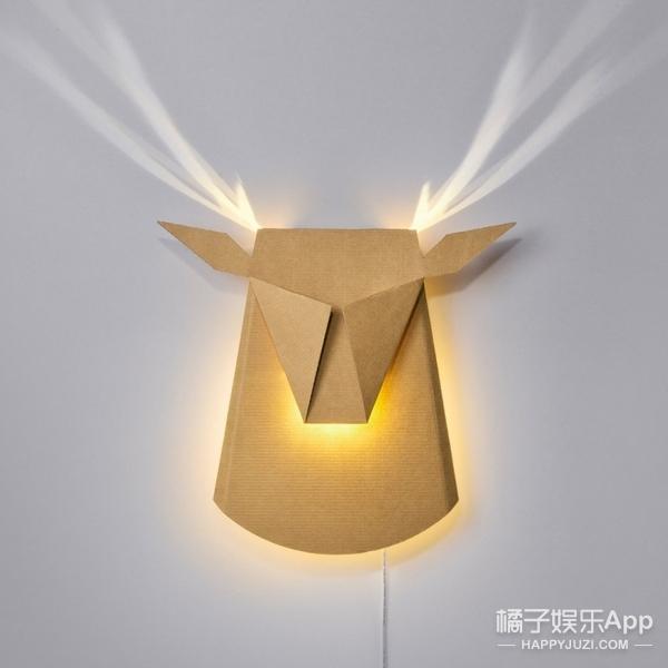 像折纸一样的梦幻鹿角灯,给你多维度神奇体验