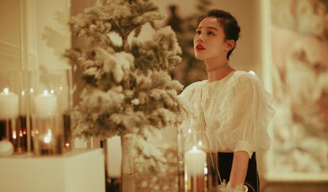 圣诞私房照怎么拍,马思纯教你如何拍得温馨又文艺