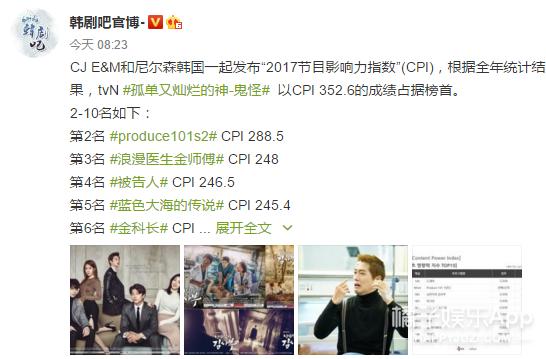 播完一年了,2017年最有影响力的韩剧依然是《鬼怪》!