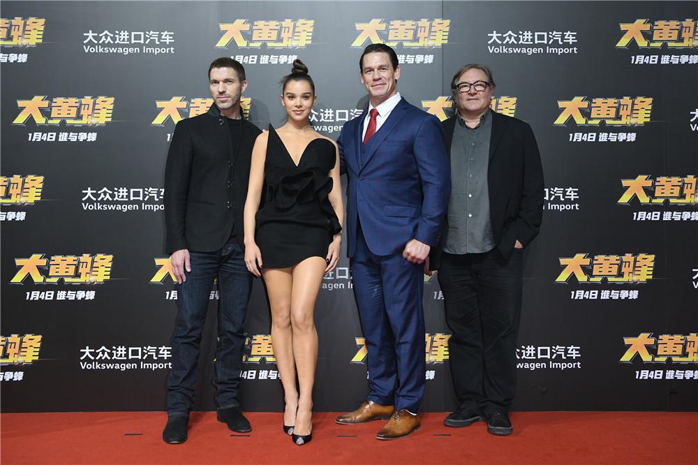 《大黄蜂》举行中国新闻发布会约翰·塞纳全程秀中文嗨翻全场