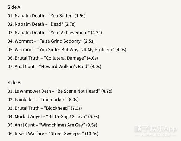 它收录13首歌却一共只有83秒,世界最短专辑长这样