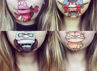 把嘴唇当做画布,她们可真会玩!