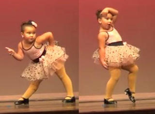 激萌!这个胖丫头卖力的舞步震翻了所有观众!