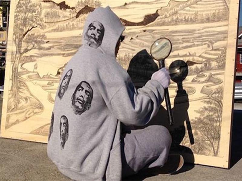 阳光、放大镜、木板,你能想象这三样东西可以作画吗?