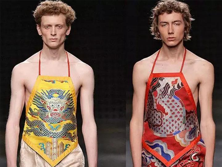 肚兜、蕾丝、股沟......伦敦男装周各种奇葩各种搭