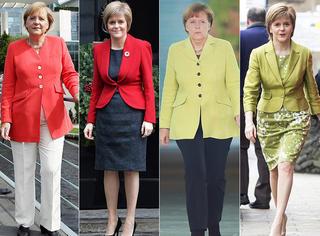 """重大发现∣德国女总理和苏格兰女领袖竟然是对""""时尚双胞胎"""""""