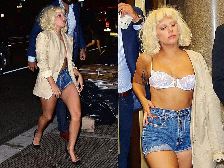 Lady Gaga又走光了! 只是因为上街买个披萨 就酱霸气侧漏