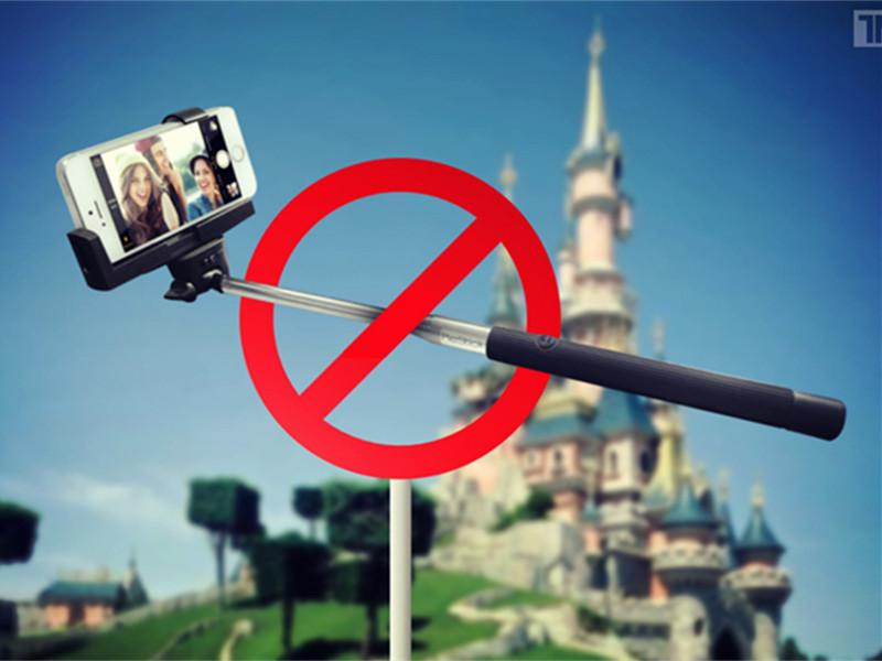 怕你装B伤到人 自拍杆被迪士尼乐园全面封杀