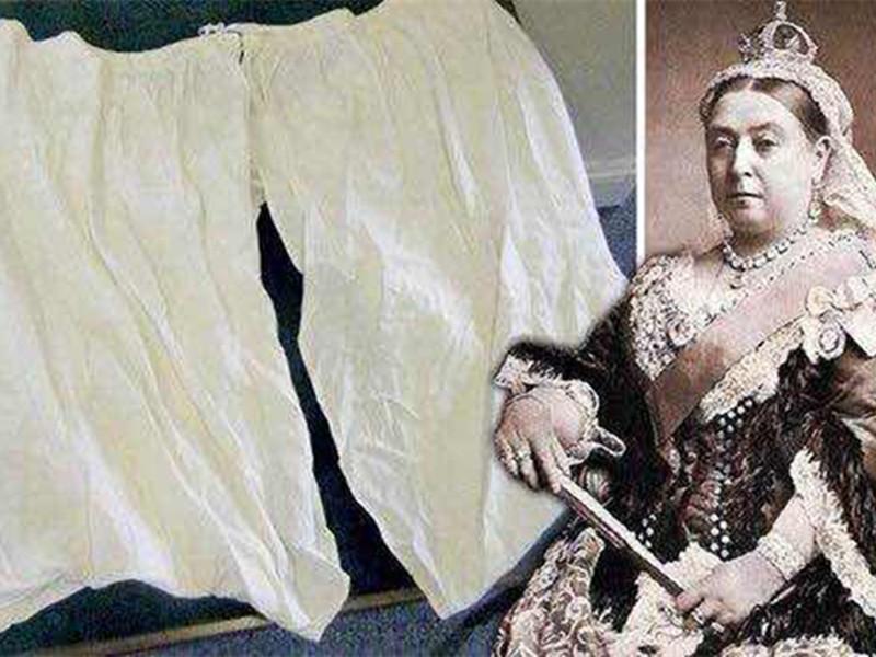 维多利亚女皇巨型裤衩拍卖,原来她的腰围一直在长