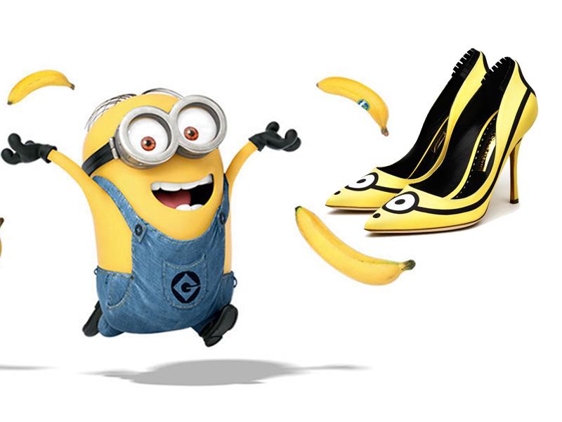 靓瞎眼的小黄人高跟鞋 全球只有10双