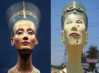 埃及把他们国家的最美女神,雕成了蔡明