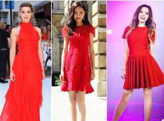 像宋佳倪妮一样穿对红裙 你也可以成为股市反弹女神