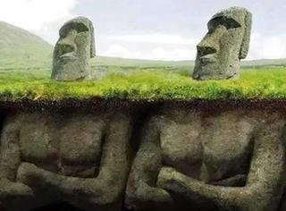 复活节岛巨石像其实都是有身体的!而且还有神秘的符号...