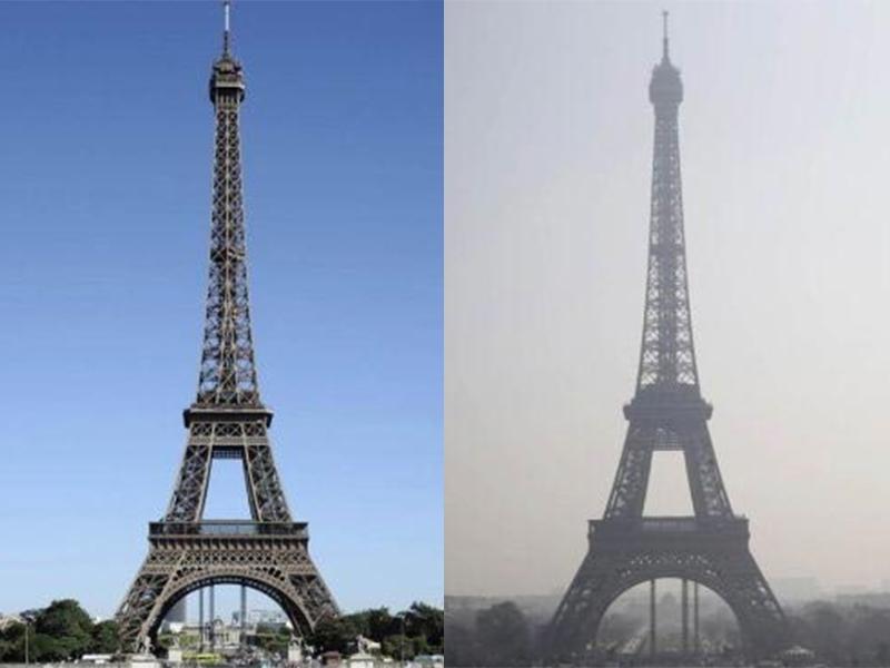 你没看错!这不是北京,是巴黎!连铁塔都变成灰色了