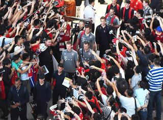 拜仁来北京啦!人气爆棚 中国球迷果然给力