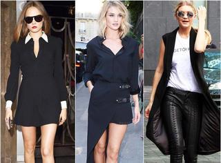 欧美街拍 | 鬼马超模Cara低胸装扮美 西班牙王后小黑裙优雅高贵