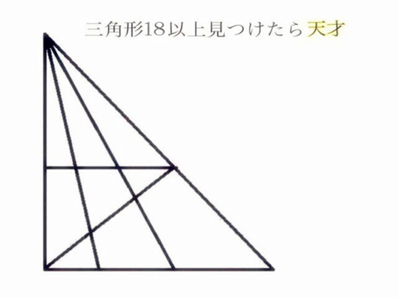 一张图 | 据说智商越高 看到的三角形就越多