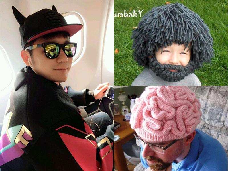 李晨的黑牛帽已经过时啦 现在流行真男人胡子和脑残帽
