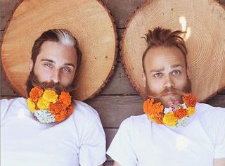 看这对帅gay蜜如何玩坏他们的胡子,太有爱啦!