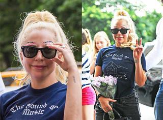 """Lady Gaga穿的终于正常了 但这犀利的""""眉上眉""""也是看醉了"""