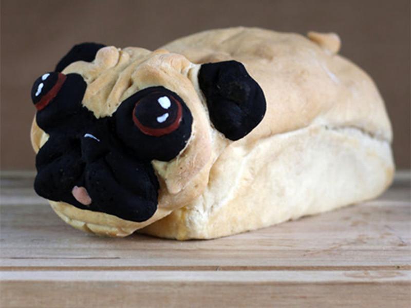 重口慎点!有人把大咪和汪星人烤成了面包!