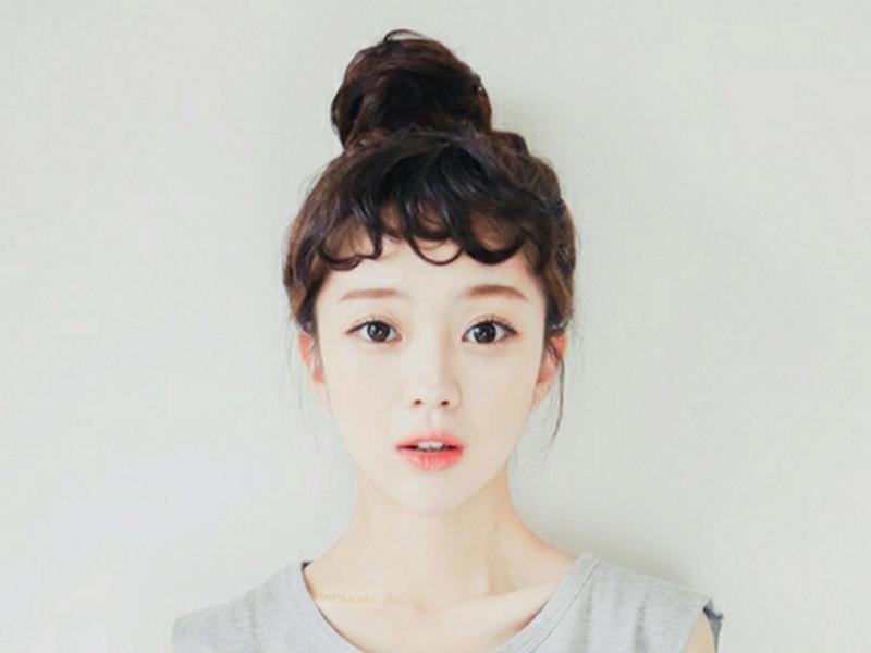 9步走,短发变身韩式蓬松丸子头!