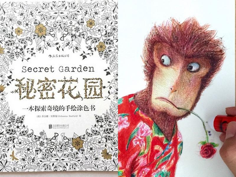 《秘密花园》什么的都太贵了!2元圆珠笔能玩成这样你信吗