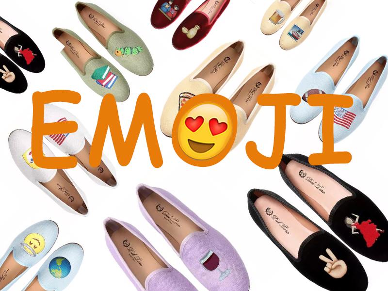 草鸡有趣OMG!把萌出血emoji平底鞋穿在脚上!