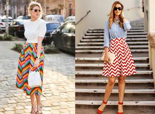 纯色腻了吧?看彩色条纹怎么穿出美美的夏天!