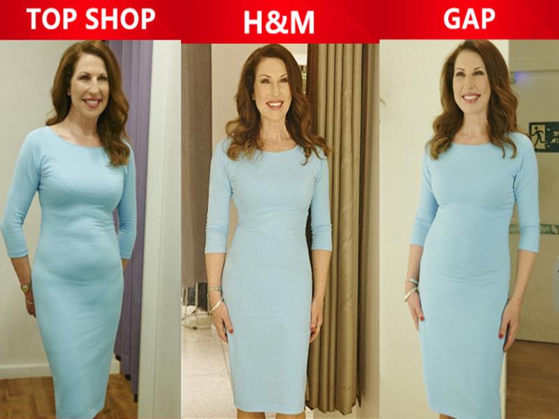 穿同一件衣服去各大品牌的试衣间照镜子,结果大不相同
