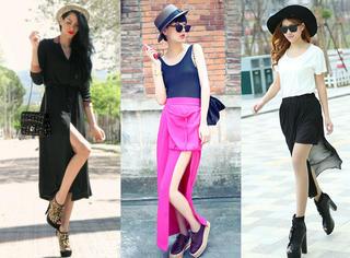 若隐若现 裙子的衩开在哪里才算时髦?