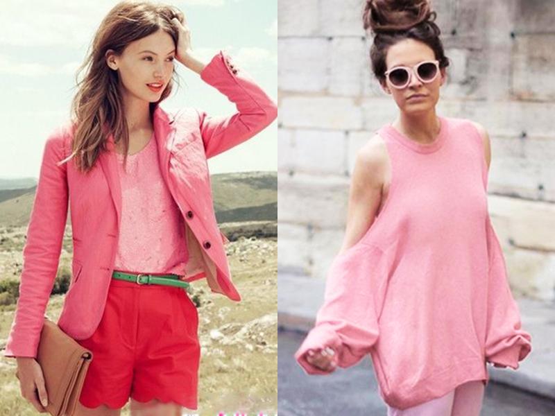 别说粉色俗,是你不会穿