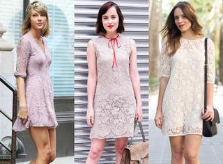 经典新穿法 | 蕾丝连衣裙正当季!你真的不来一件吗?